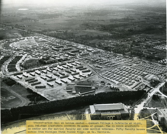 Demonstration Hall, Quonsets, and Post-War Temporary Housing, undated