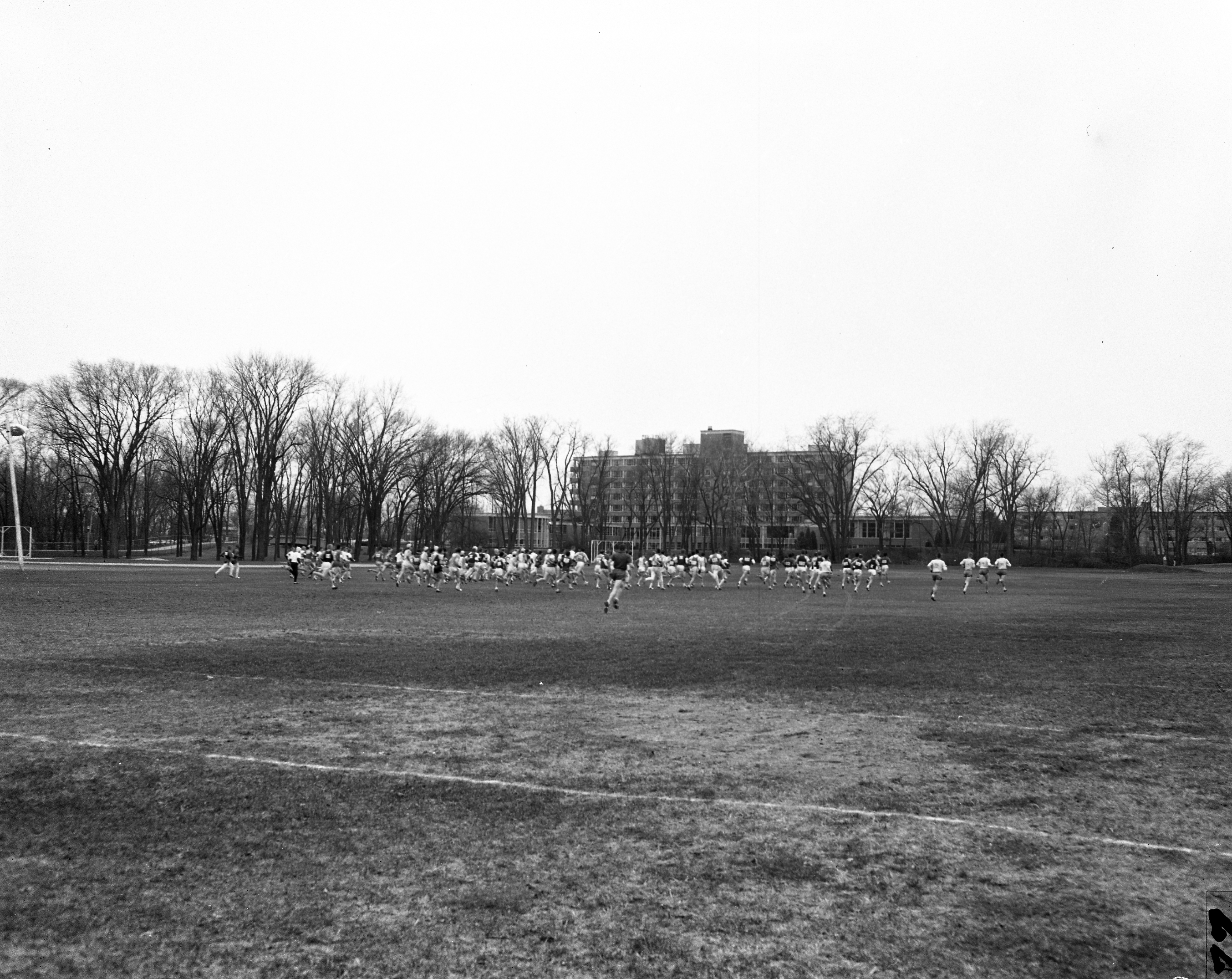 Cross Country team on field, 1957