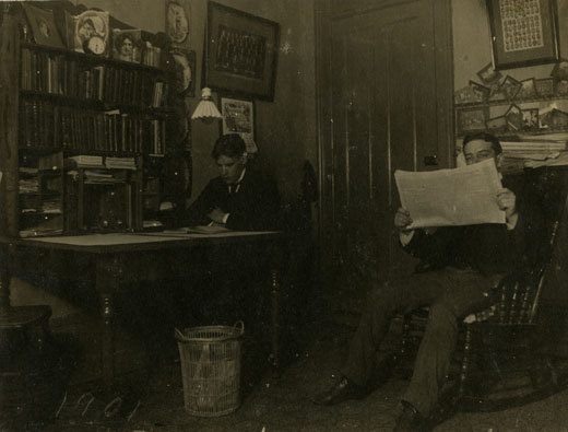 Two Male Students in Wells Hall, 1901