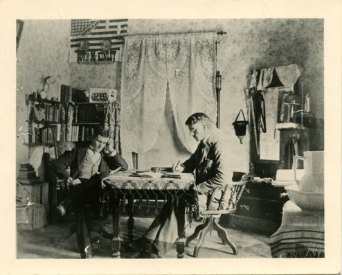 Two Male Students in Abbot Hall, circa 1893-1895