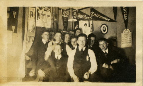 Group of Male Students in a Dorm, 1917