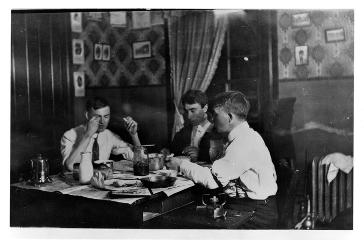 Students Eating in their Dorm Room, 1914