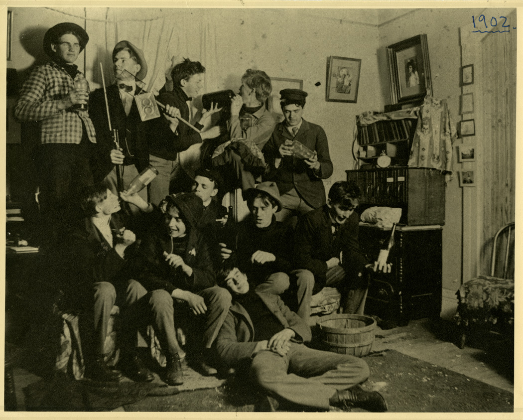 A Gathering of Males in a Dorm Room, 1901