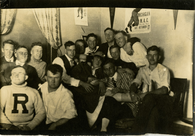 Male Students Hanging out in a Dorm Room