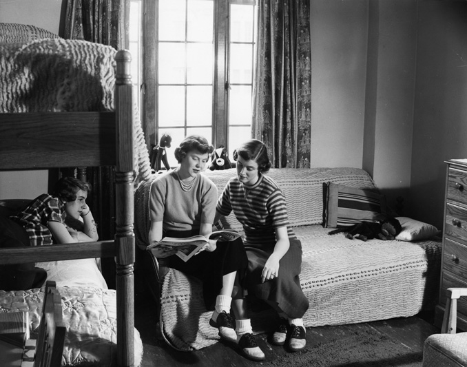 Interior of Female Dorm Room, 1950