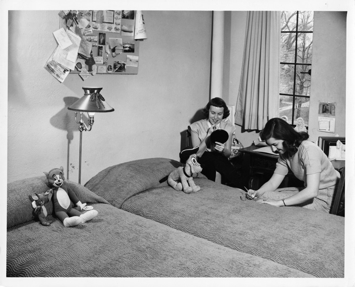 Interior of Female Dorm, 1950