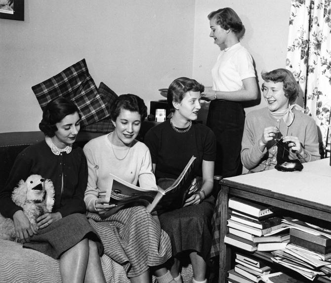 Female Dorm Life, 1954