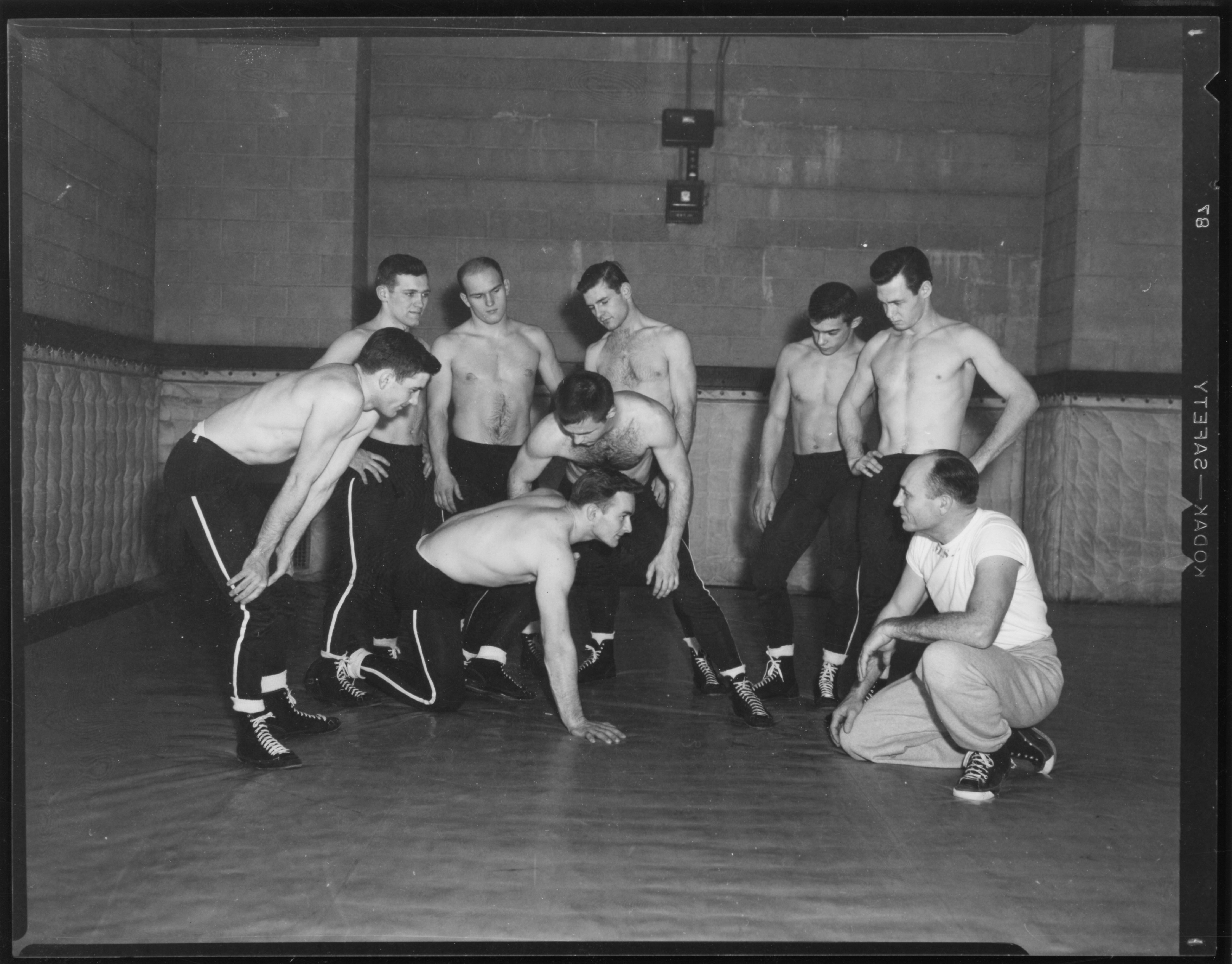 F.Collins and Wrestlers,1950