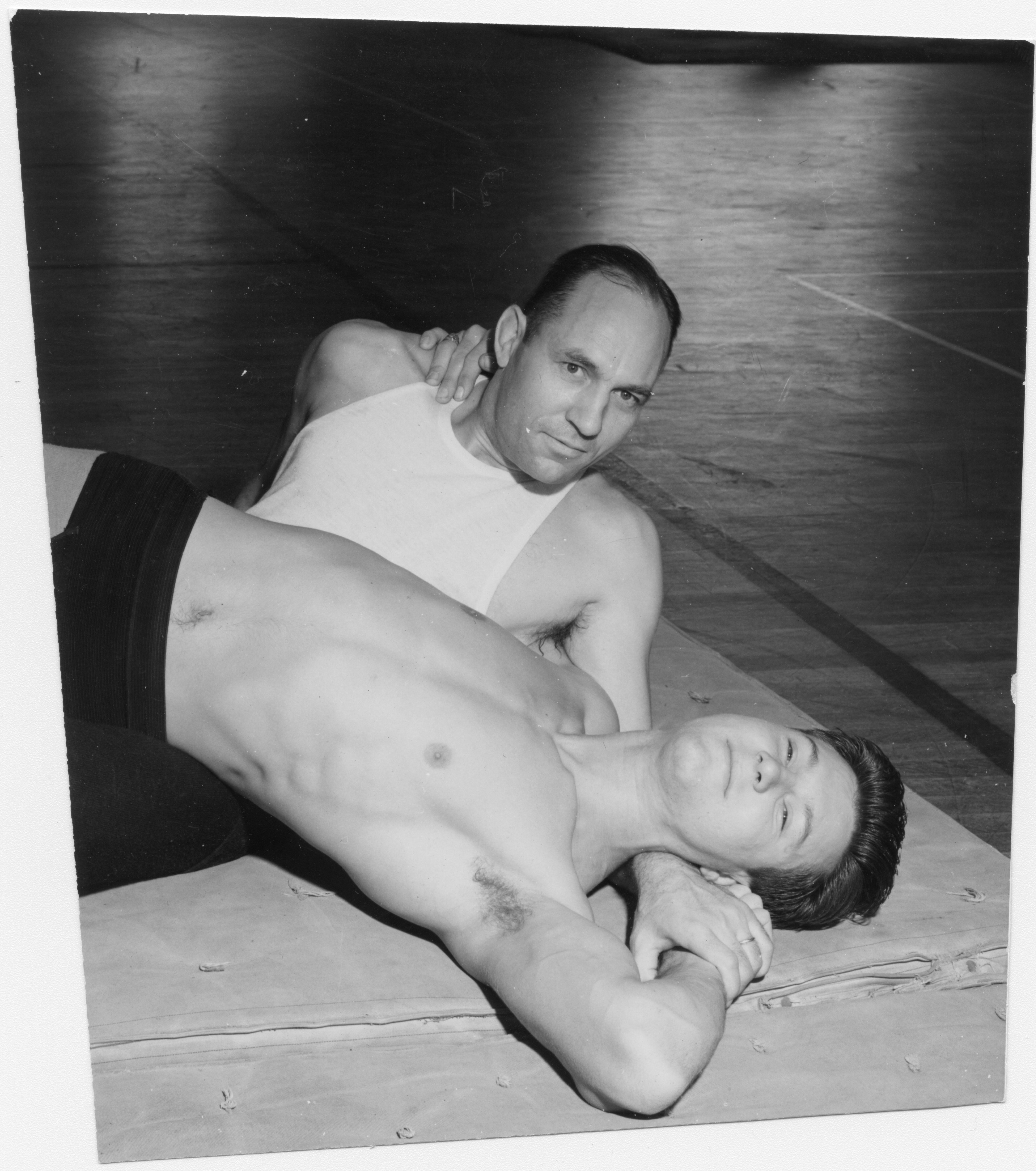 Coach Fendley Collins with Wrestler