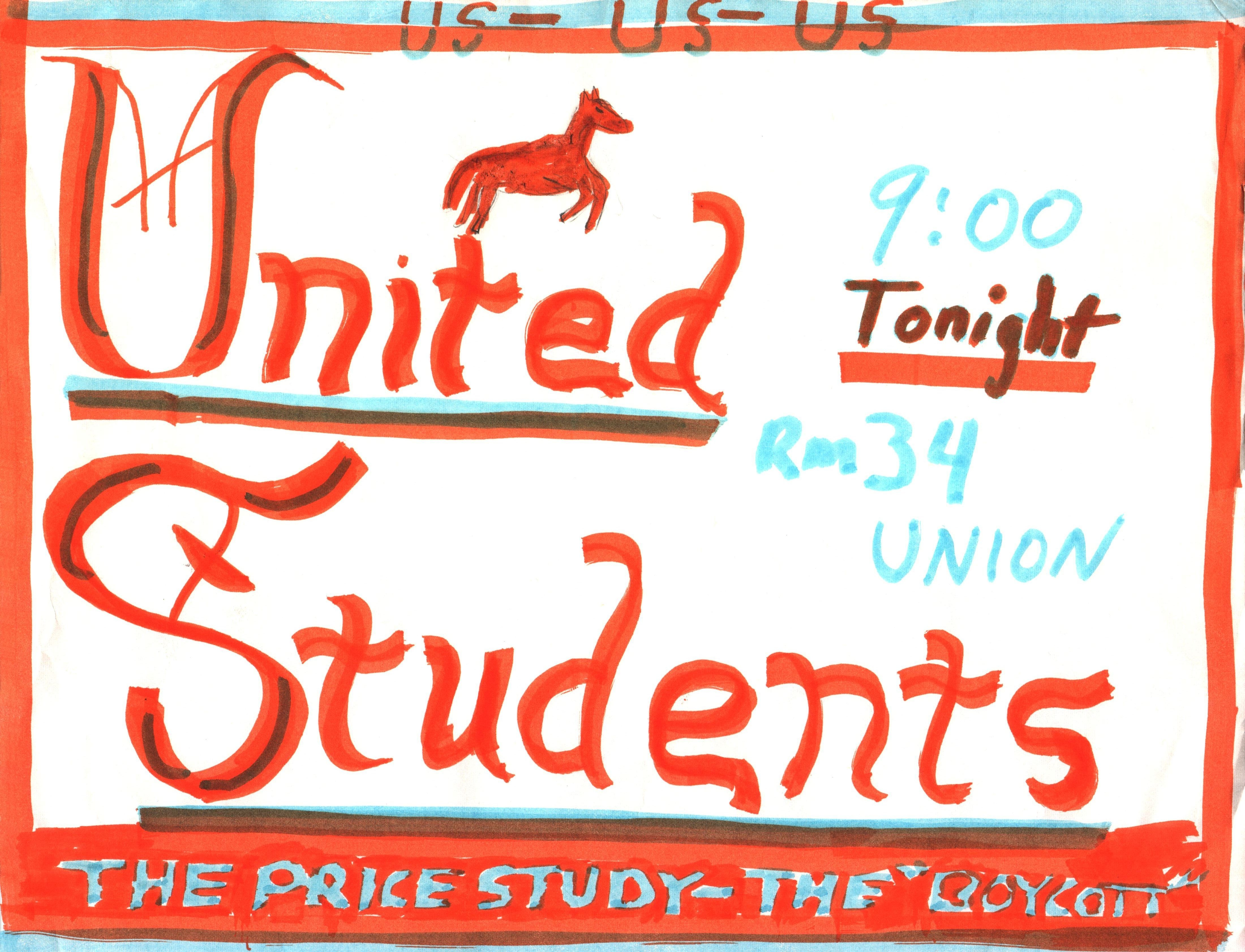 Orange Horse Notes -- United Students Perpetuation