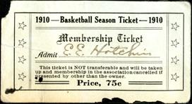 Basketball season ticket, 1910