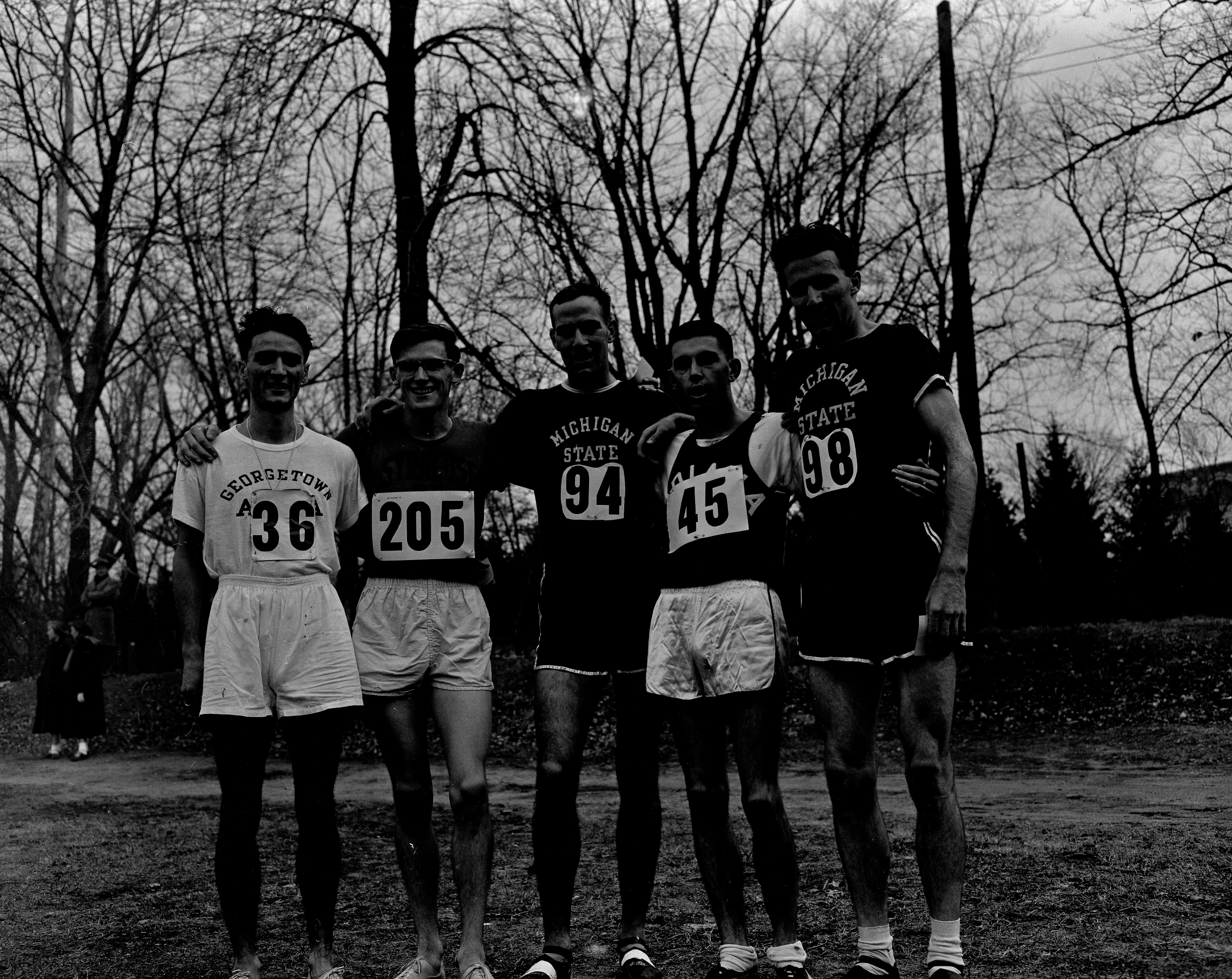 Five runner at the Cross Country NCAA Championship, 1952