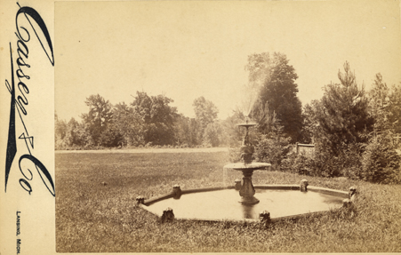 A Fountain on the Campus of M.A.C, 1887