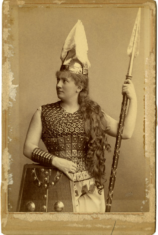 Kate Marvin in costume, 1890