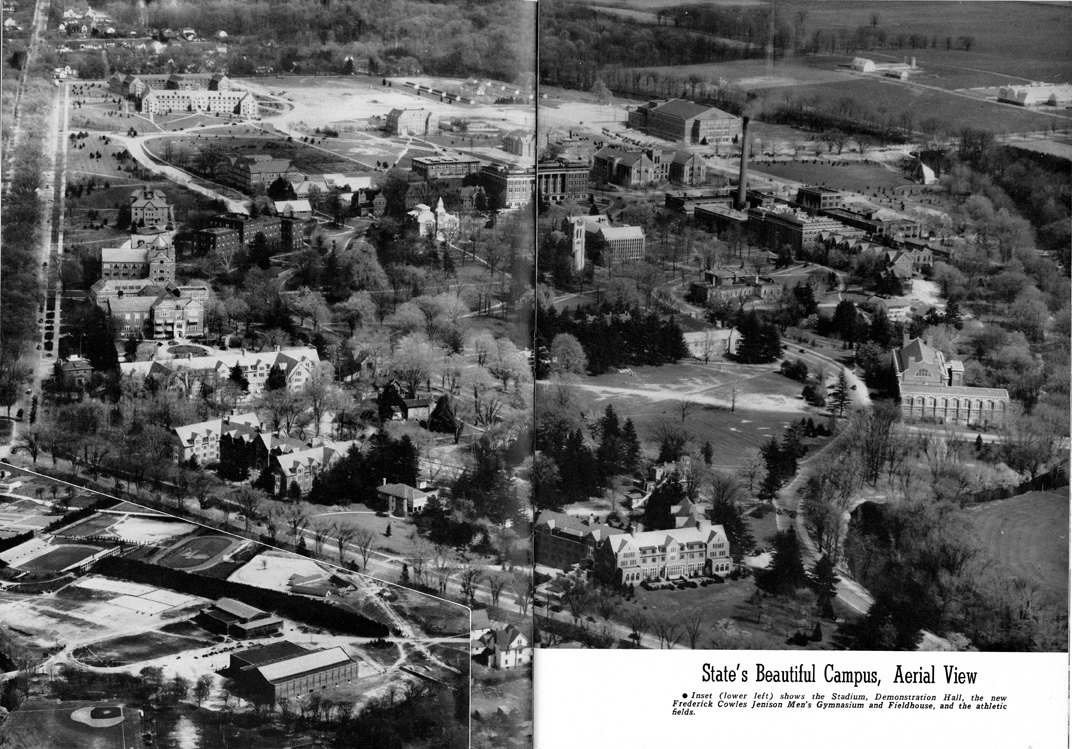 Aerial View of Campus, 1942