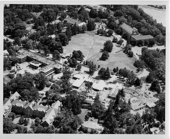 Landon Hall construction, 1947