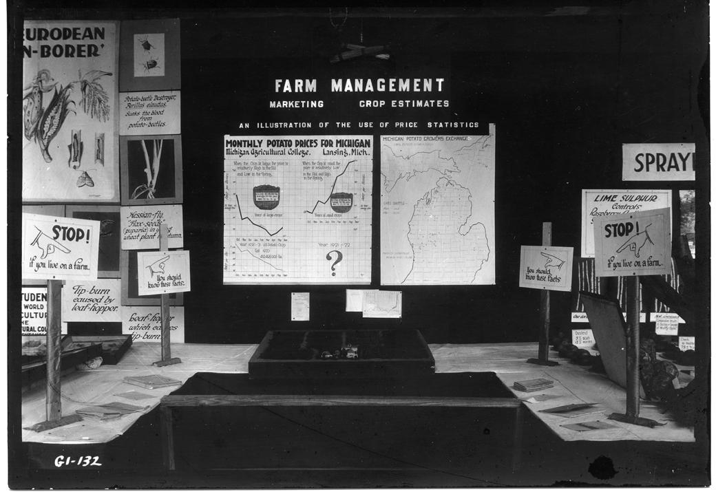 Farmers Week Exhibit for Farm Management