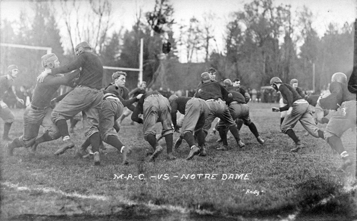 M.A.C. vs Notre Dame football game