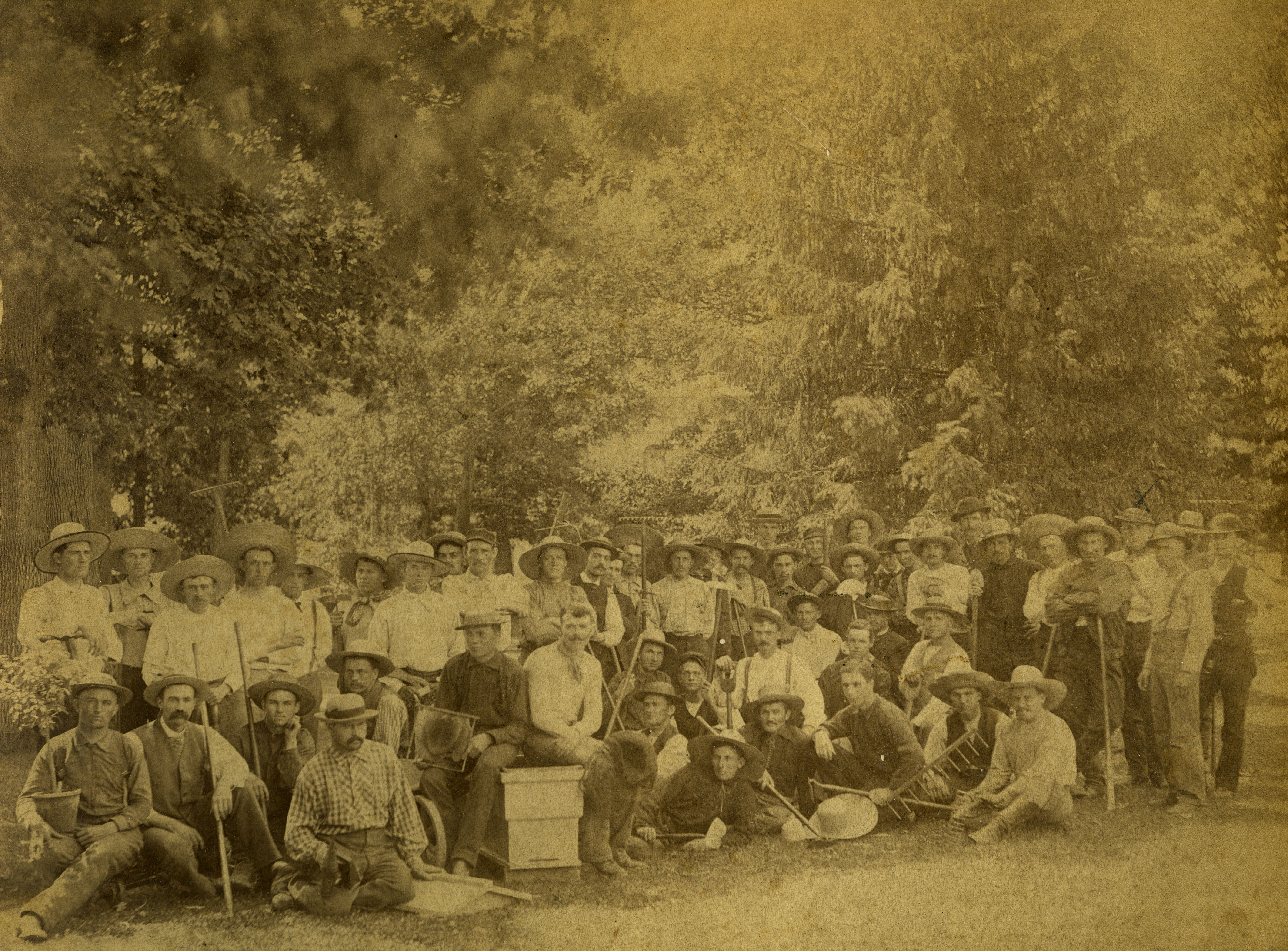 Horticulture students, 1884