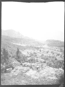 Buildings on a mountain (Frank M. Benton papers), circa 1880s