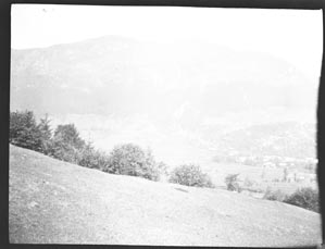 Buildings in a valley (Frank M. Benton papers), circa 1880s