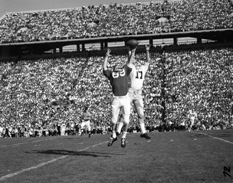 MSU versus University of Michigan football game, 1962