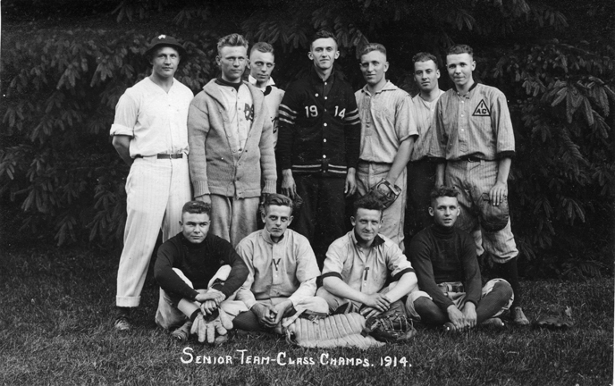 Baseball, senior team, 1914