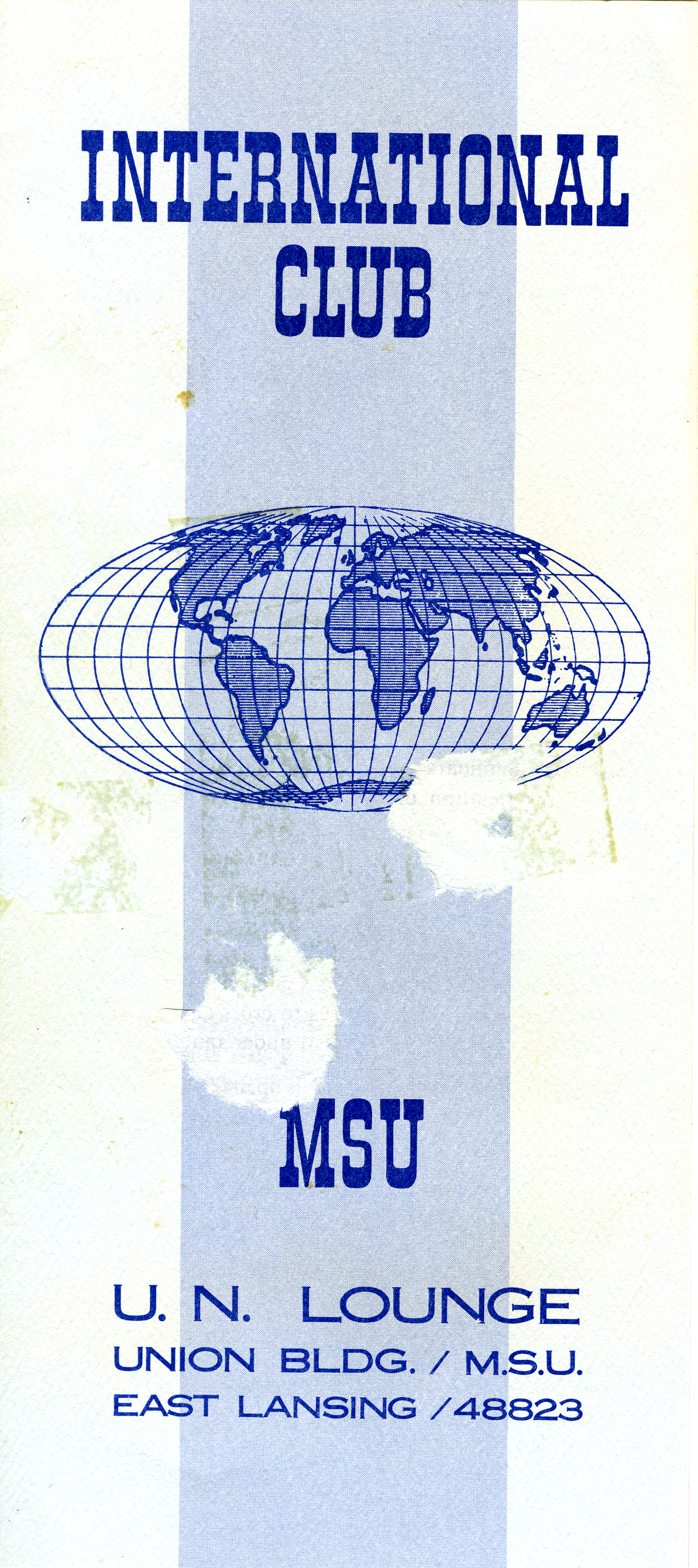 Photograph of MSU International Club Pamphlet