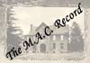 The M.A.C. Record; vol.27, no.09; November 25, 1921
