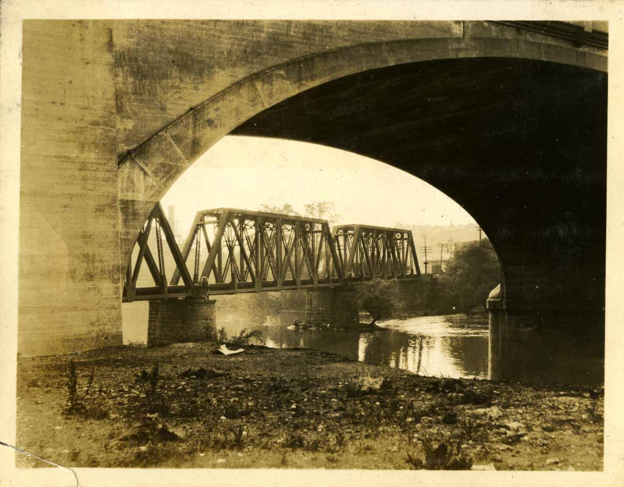 Bridge on campus, taken by Engineering student Onn Mann Liang, circa 1925