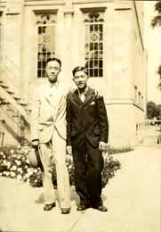 Onn Mann Liang with unidentified man, 1928