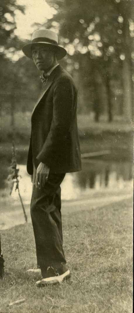 Onn Mann Liang on the Red Cedar, circa 1924