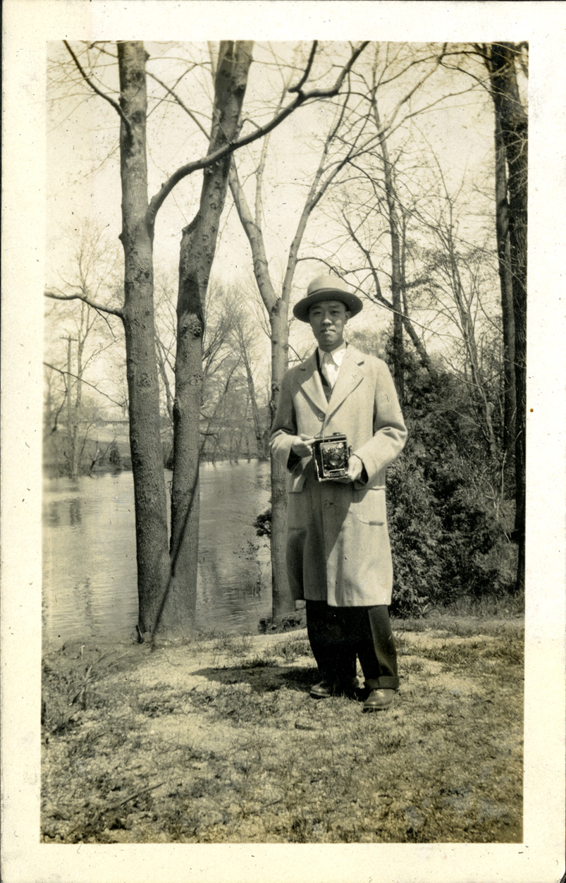 Onn Mann Liang by the Red Cedar River, circa 1925