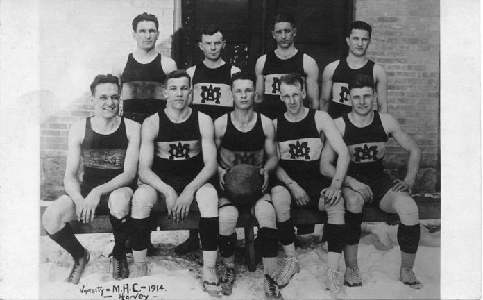 M.A.C. varsity basketball team, 1914