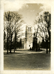 View of Beaumont Tower, taken by Onn Mann Liang, circa 1925