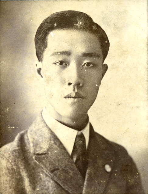 Onn Mann Liang high school portrait, 1918