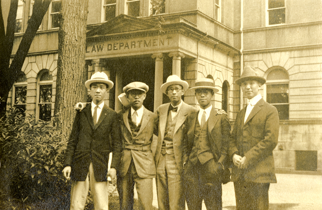Onn Mann Liang and friends in Ann Arbor, 1924