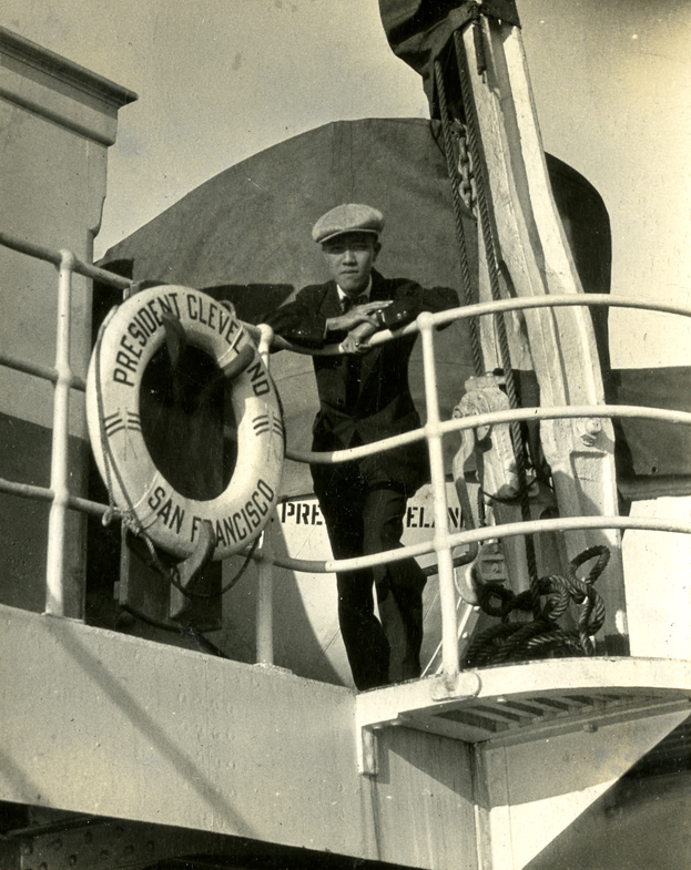 Onn Mann Liang on the SS Cleveland to China, 1932
