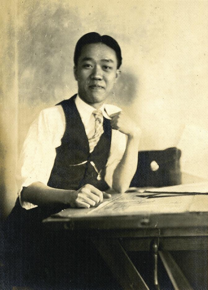 Onn Mann Liang with the Michigan State Highway Department, circa 1929