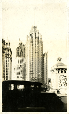Tribune Tower in Chicago, taken by Onn Mann Liang, 1928