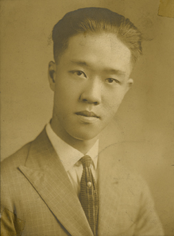 Portrait of Onn Mann Liang in California, 1923