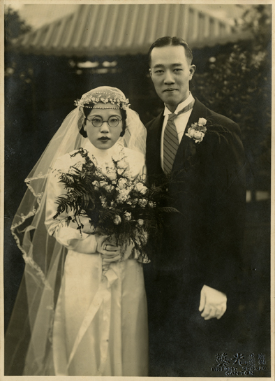 Onn Mann Liang with bride, 1936