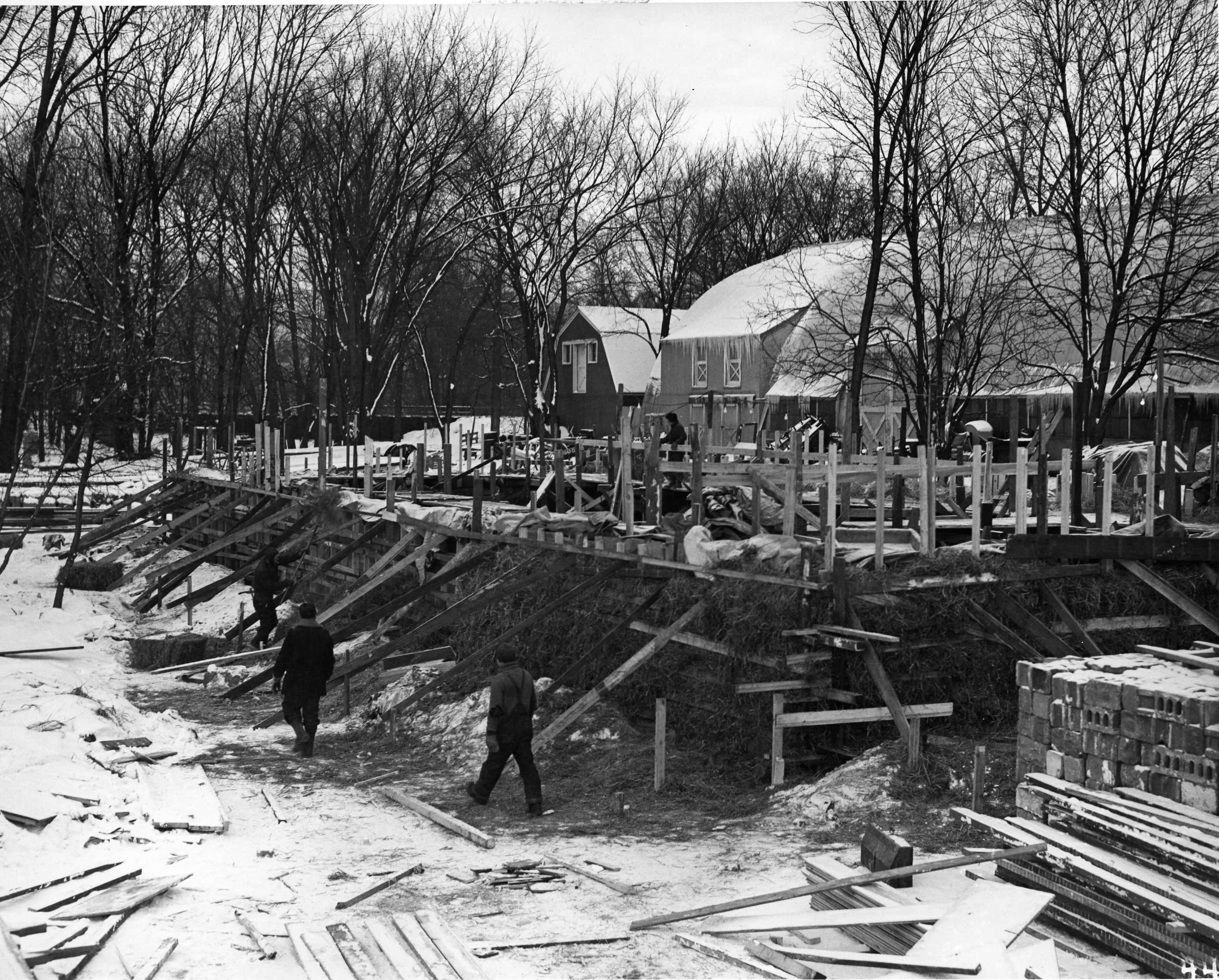 Construction of the Equipment Shed
