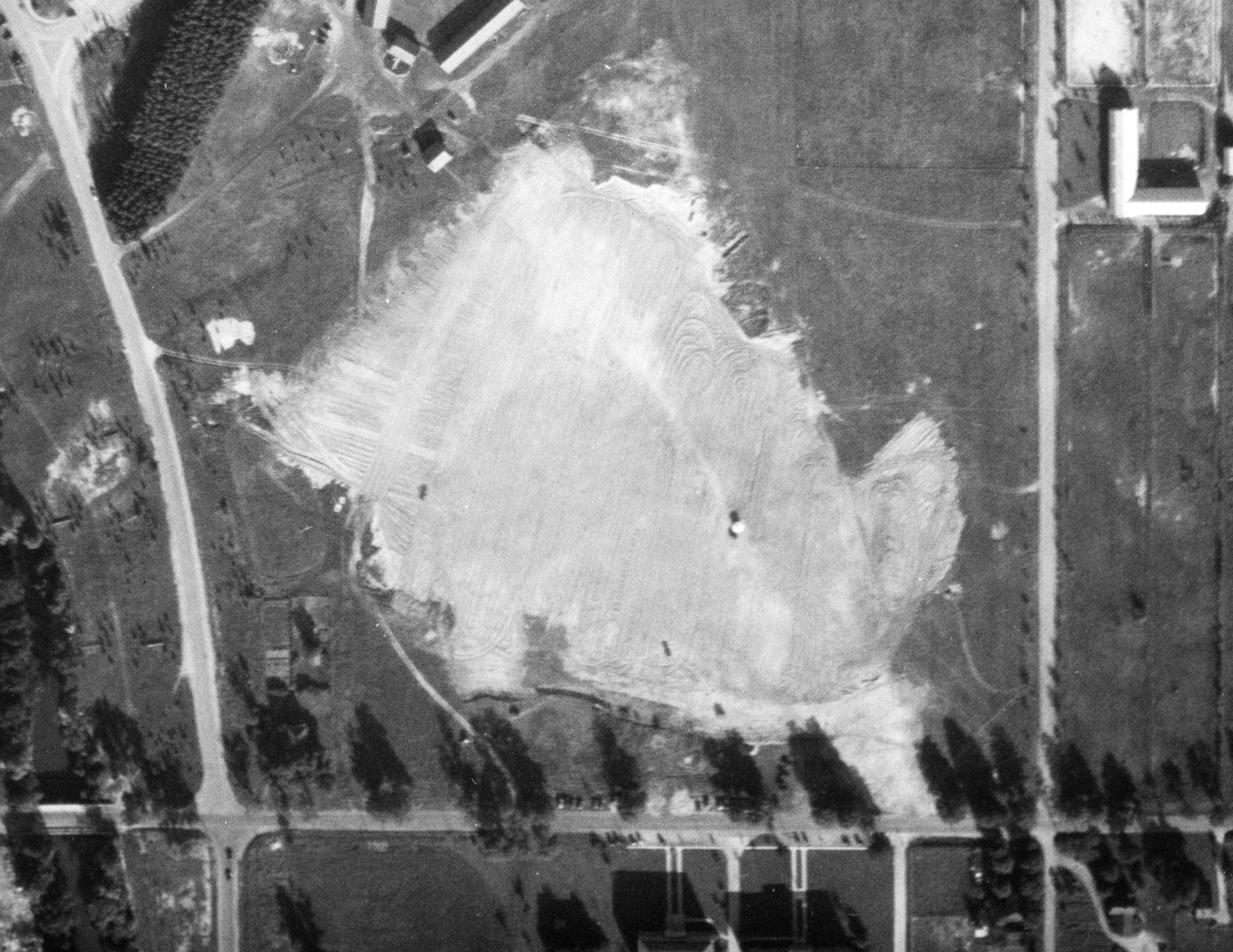 Aerial view of the Polo Field, Date Unknown