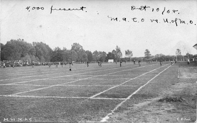 M.A.C.-University of Michigan football game, 1908