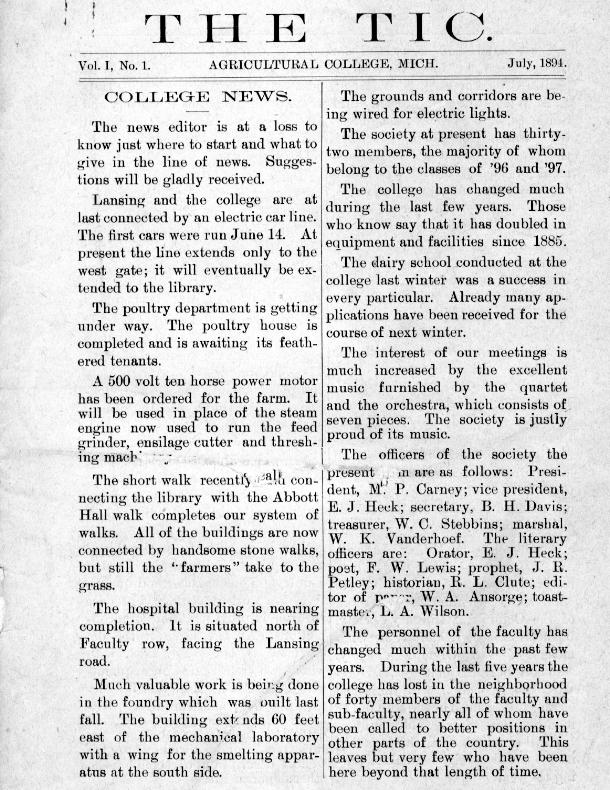 The Tic; No.11, June 1924