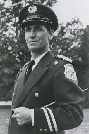 Leonard Falcone in his band uniform, undated