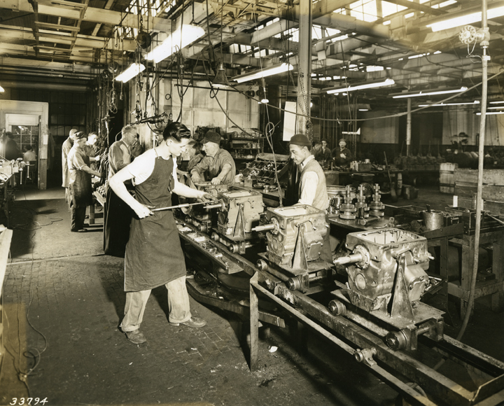 Engine assembly line at the REO Motor Car Co.