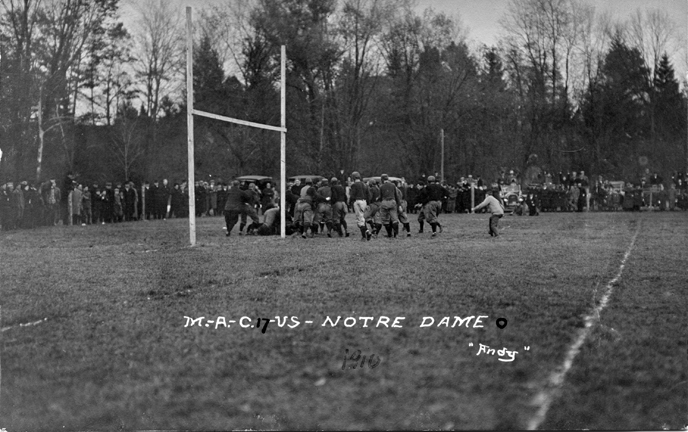 M.A.C. vs Notre Dame football game, 1910