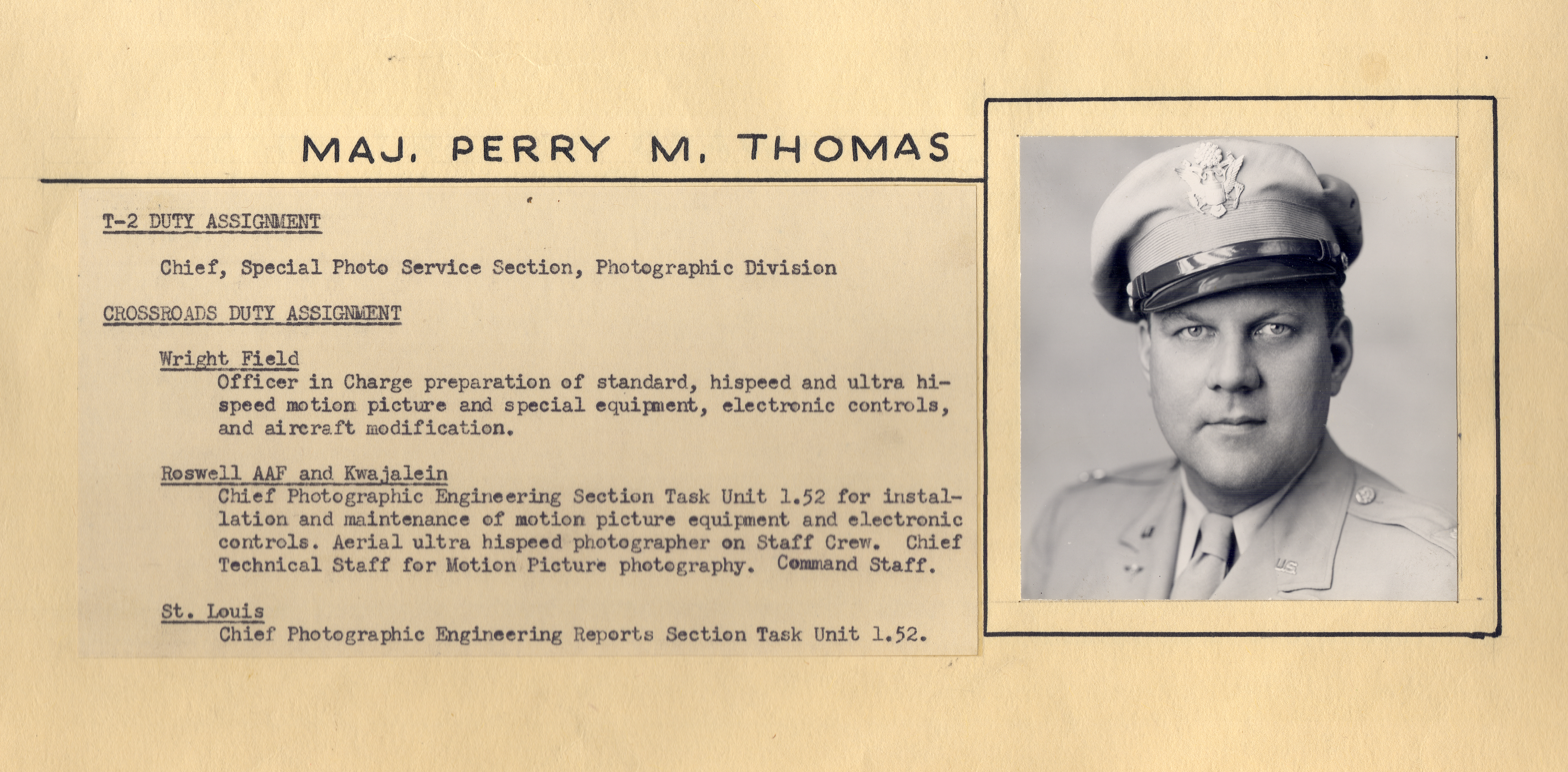 Major Perry M. Thomas, 1945-1946